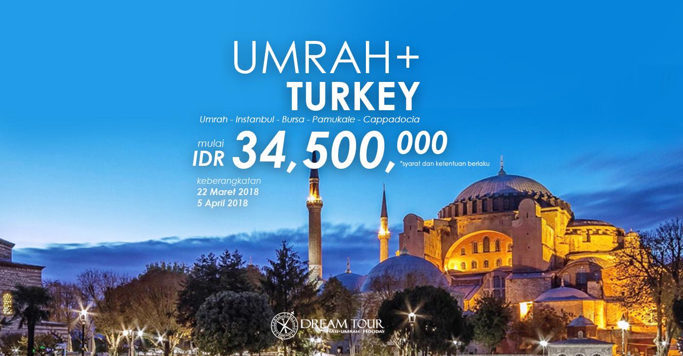 umroh plus turki, umroh plus turki 2017, pt dream tours and travel